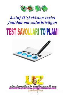 8-sinf O'ZBEKISTON TARIXI-namuna-1