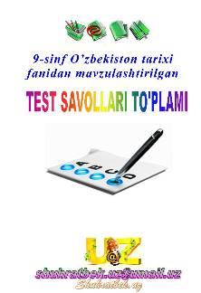 9-sinf O'ZBEKISTON TARIXI-namuna-1